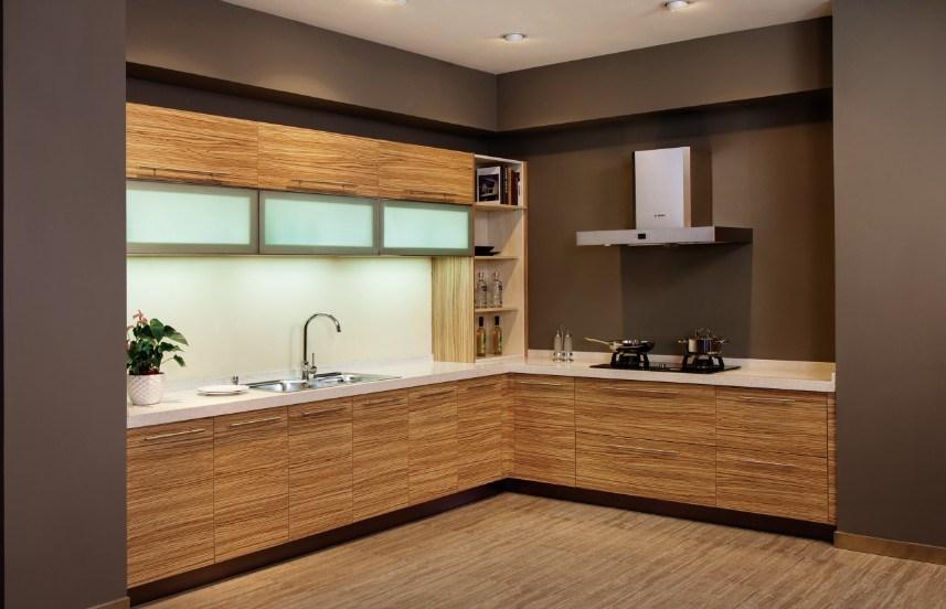 Chambre A Coucher 180X200 : Modèle CoffretNormal de cuisine moderne de panneau de mélamine