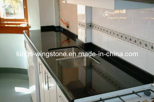 product china black absolute granite kitchen top countertop eurgerggg - Marbre Noir Galaxy Cuisine
