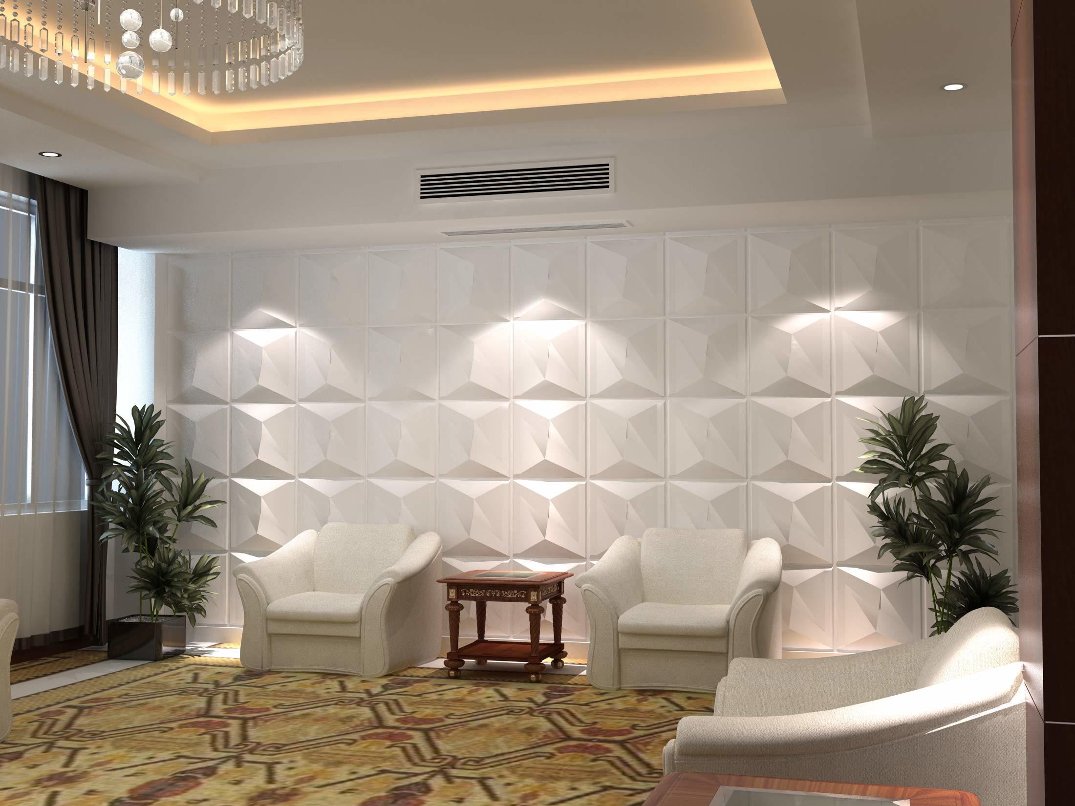 Et acoustique panneau d coratif 3d moderne pour la for Panneau decoration murale design