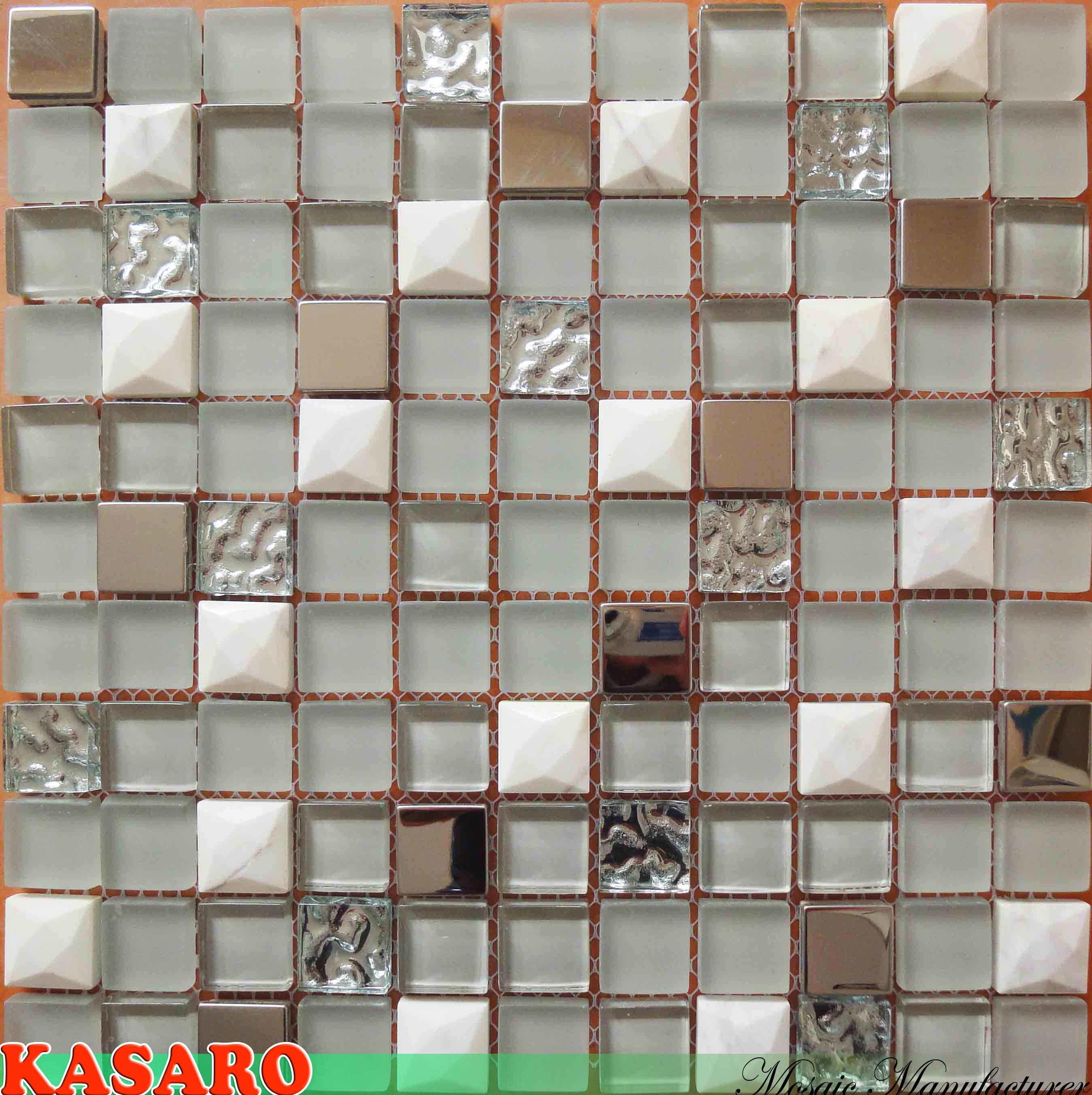 Azulejos Para Baño De Cristal:(KSL8852) de la pared del mosaico – Azulejos de piedra de cristal