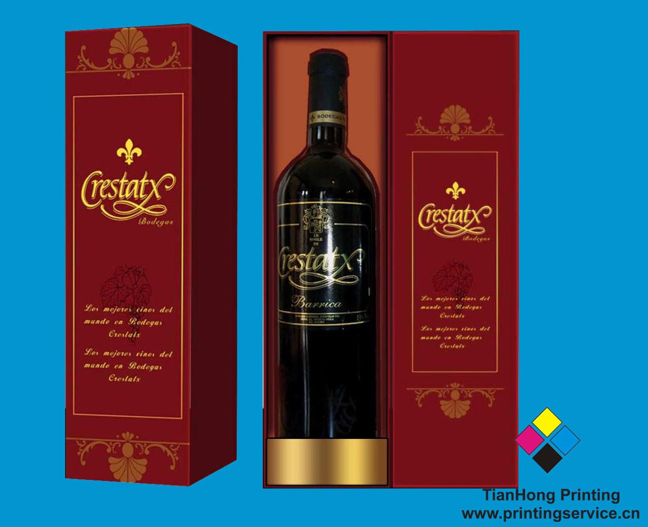Vino cajas de embalaje de papel botella oem bx019 vino - Cajas de vino para decorar ...