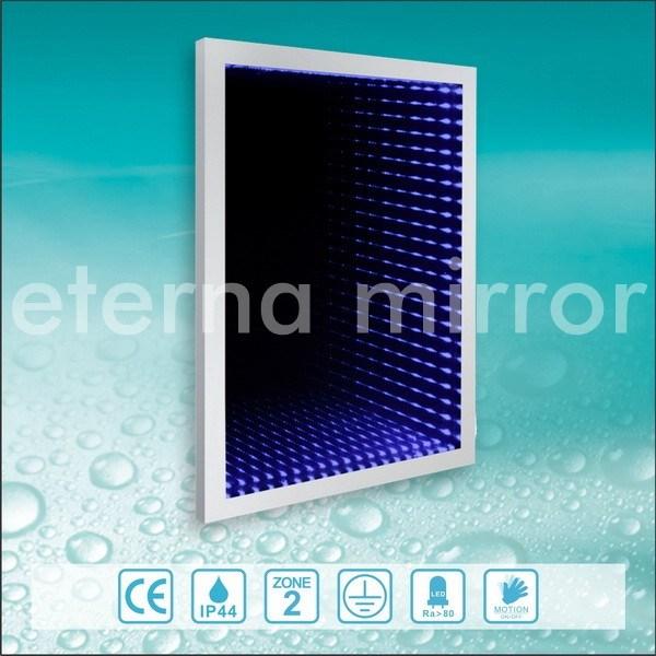 3d miroir encadr d 39 infini de l 39 effet led 3d miroir for Miroir encadre