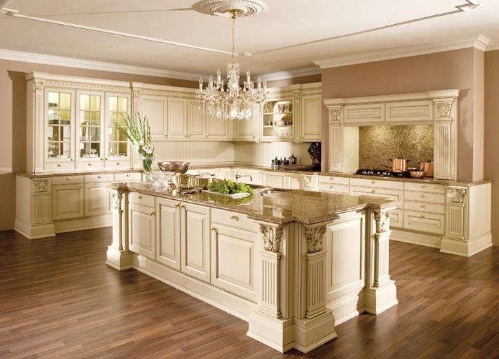 meuble de cuisine haut de gamme en bois massif, armoire de cuisine