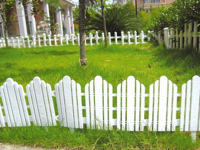 cerca blanca del plstico del jardn de la agricultura del color with cercas jardin