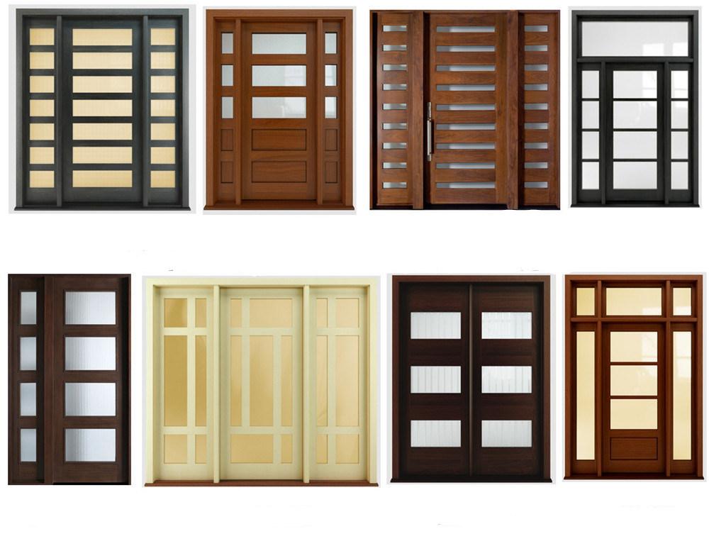 Puertas interiores de madera con vidrio for Puertas principales de cristal