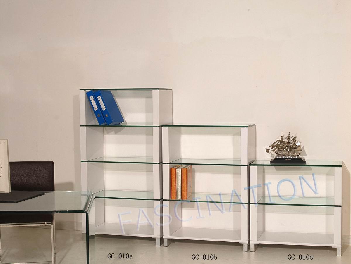 Muebles de cristal estante de cristal gc 010abc for Muebles de cristal a medida