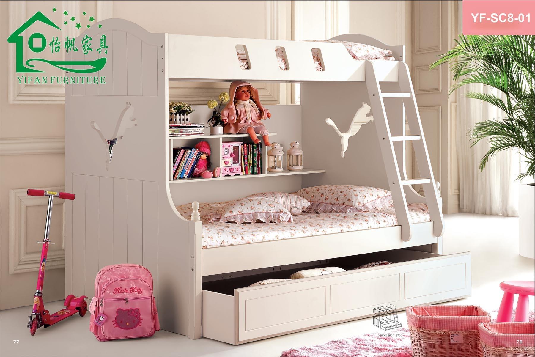 Chombre A Coucher Denfant En Bois : Doubles meubles fonctionnels en bois de chambre à coucher