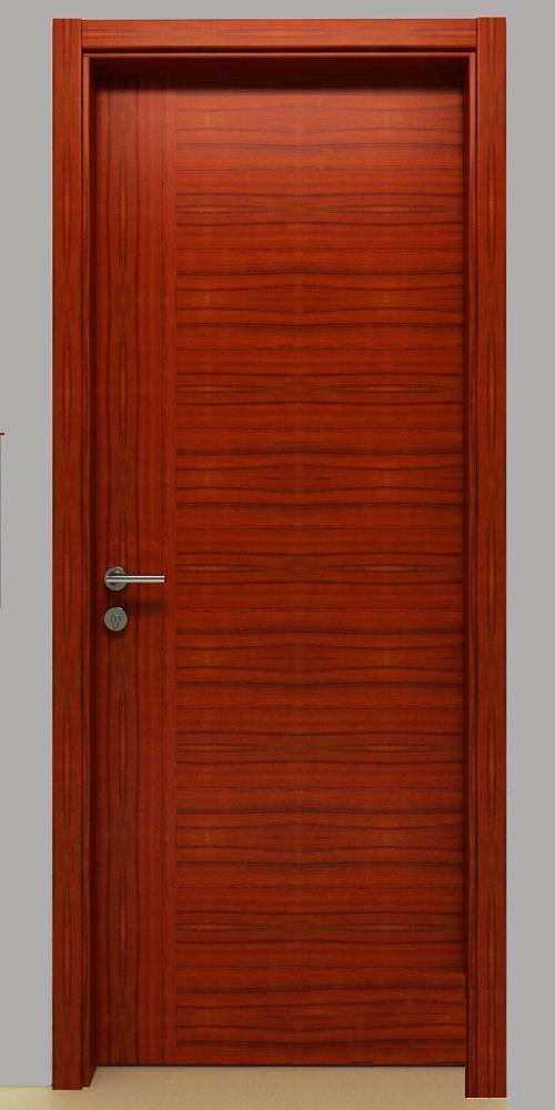 Puerta de madera interior del pvc nd050 puerta de for Precio puerta madera interior