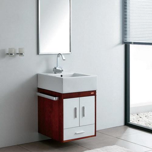 Armário de banheiro moderno da madeira contínua ajustado (GBW014) –Armário de -> Banheiro Moderno Madeira