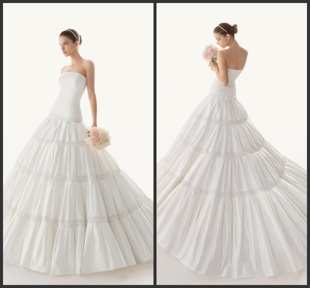 Robe de mariage sans bretelles de taffetas de robe de for Robes sans bretelles pour les mariages