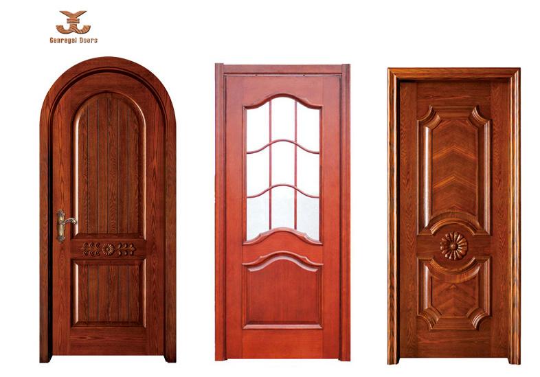 Madera laqueada interior de la puerta jg 18 madera for Precio puerta madera interior
