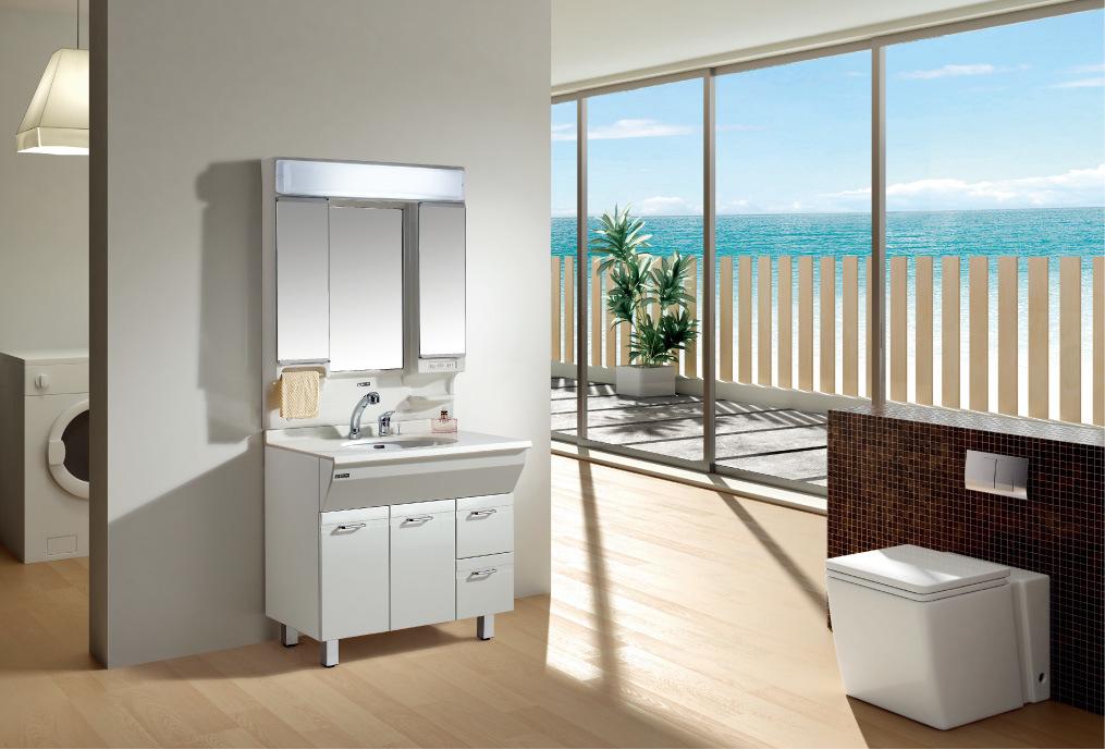 Armário de banheiro do PVC com espelho da NévoaProva (90T59) –Armário de  -> Armario Para Banheiro Pvc
