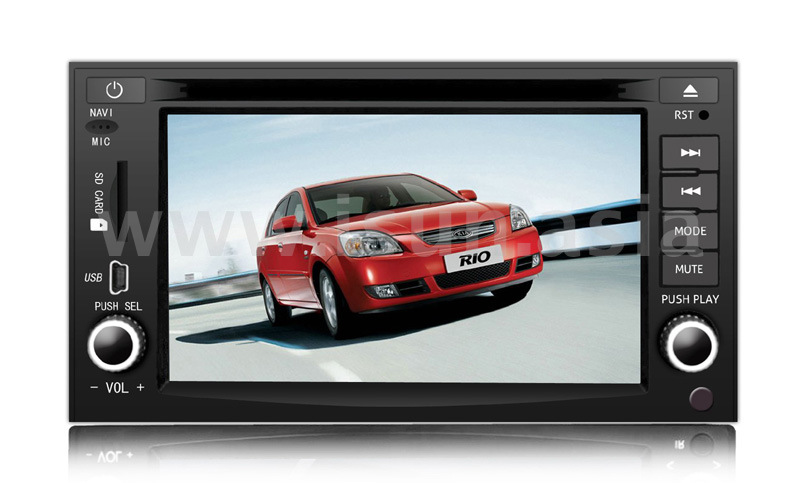 navigation de la voiture gps pour kia rio avec 2 din ts6822 navigation de la voiture gps pour. Black Bedroom Furniture Sets. Home Design Ideas