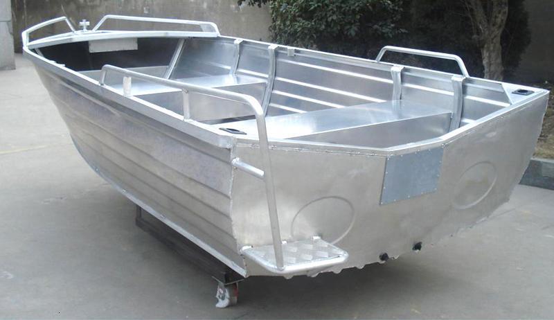 Parte inferior del barco de aluminio v