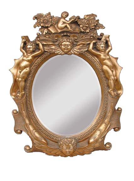 Marco redondo cl sico del espejo de la resina bd2947 for Marcos de espejos redondos