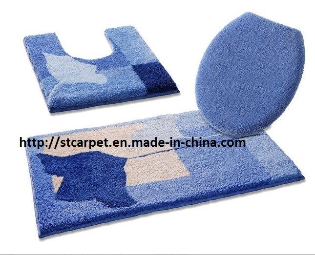 ensemble du tapis de bain de chenille de microfiber 3pcs ensemble du tapis de bain de chenille. Black Bedroom Furniture Sets. Home Design Ideas