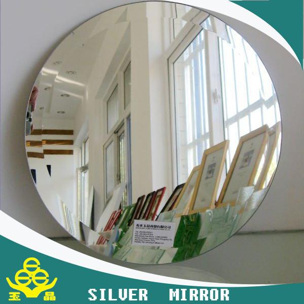 Espejo redondo del cuarto de ba o con el borde biselado for Espejo con borde biselado