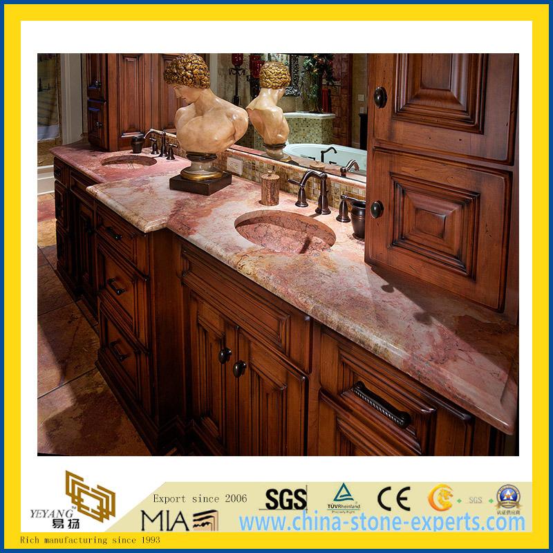 Foto de encimera de piedra natural pulido m rmol coral for Piedra marmol para cocina
