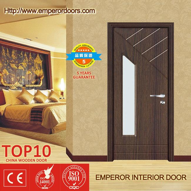Puerta interior de madera del hierro labrado del pvc para for Puertas de madera para dormitorios