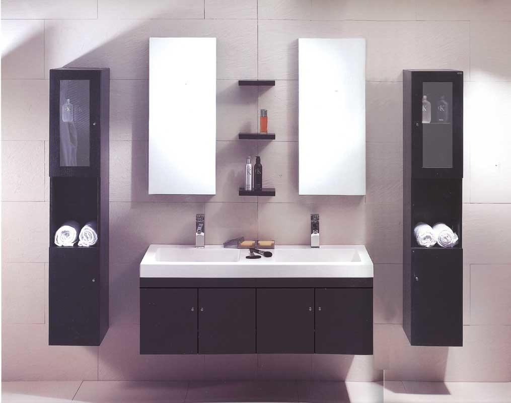 nouveau cabinet de salle de bains de lavabo de double de