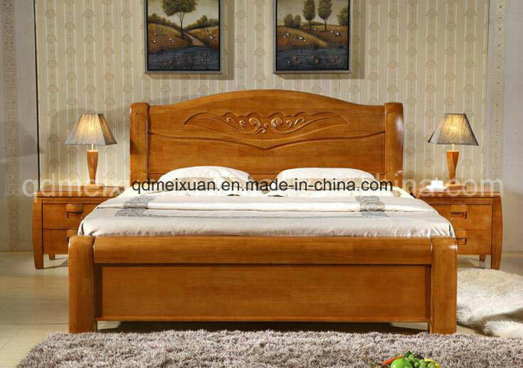 Foto de camas matrimoniales modernas de la base de madera for Camas matrimoniales en madera