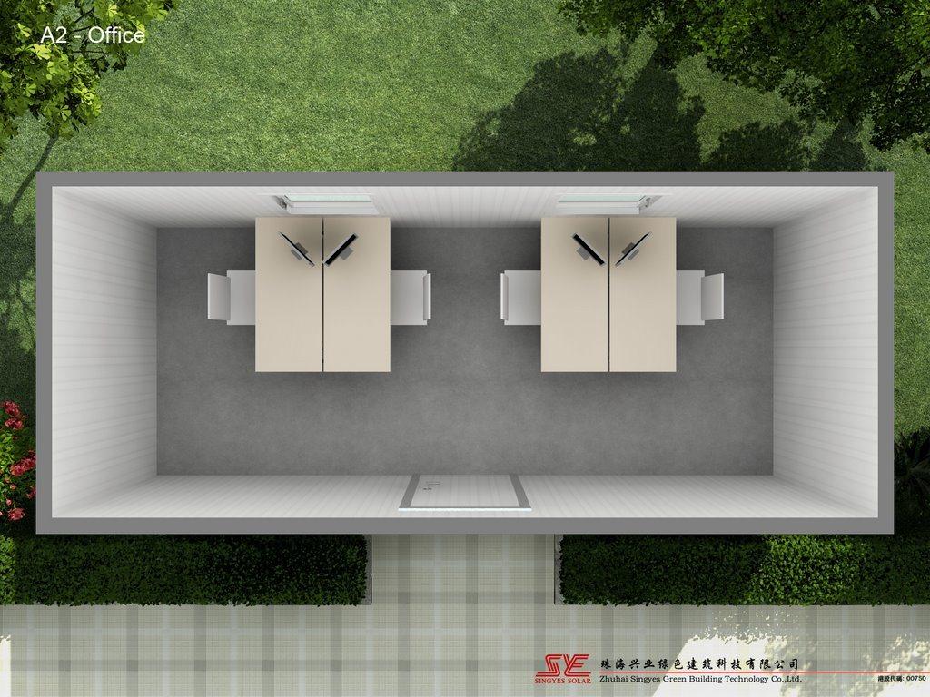 Oficina prefabricada del envase oficina prefabricada del for Oficina prefabricada