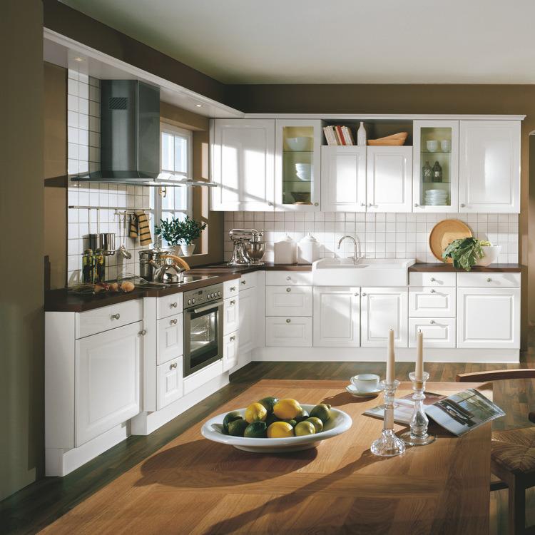 Cabinets de cuisine en bois de modèle de l'amérique de meubles de ...
