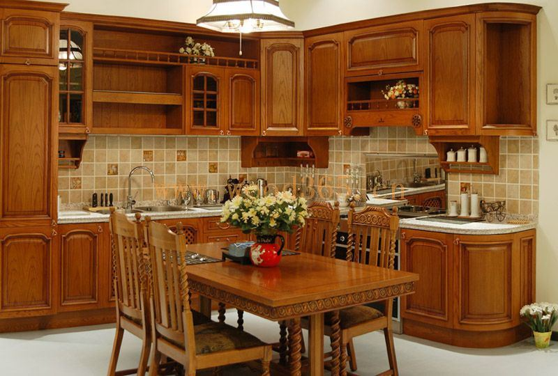Gabinete de cocina moderno de madera s lida del jpg