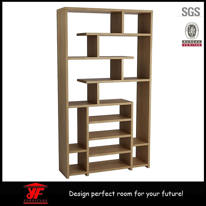 나무로 되는 저장 책꽂이 책장에 의하여 형성되는 책꽂이 디자인 ...