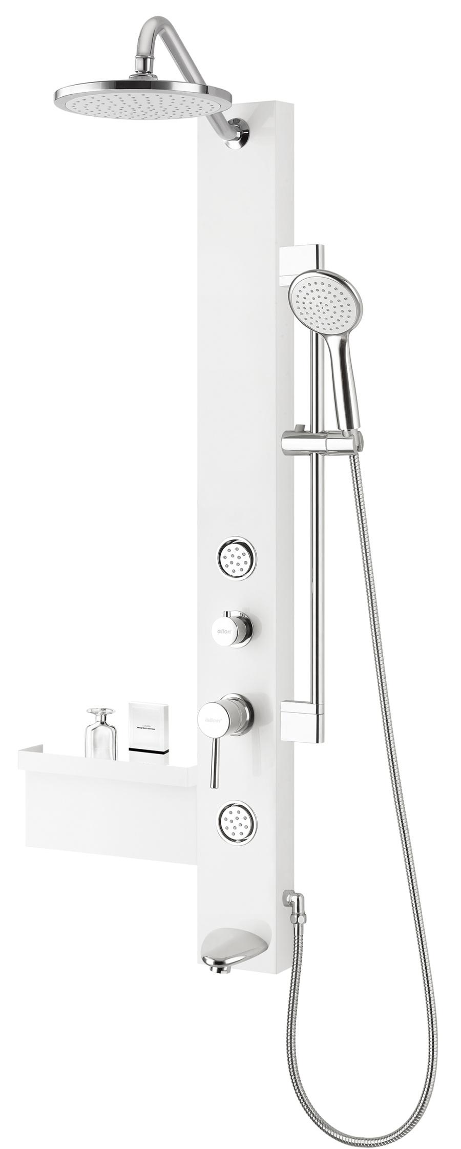 nouveau panneau multifonctionnel de douche de pvc de la salle de bains 2014 sl2104w 1 s. Black Bedroom Furniture Sets. Home Design Ideas