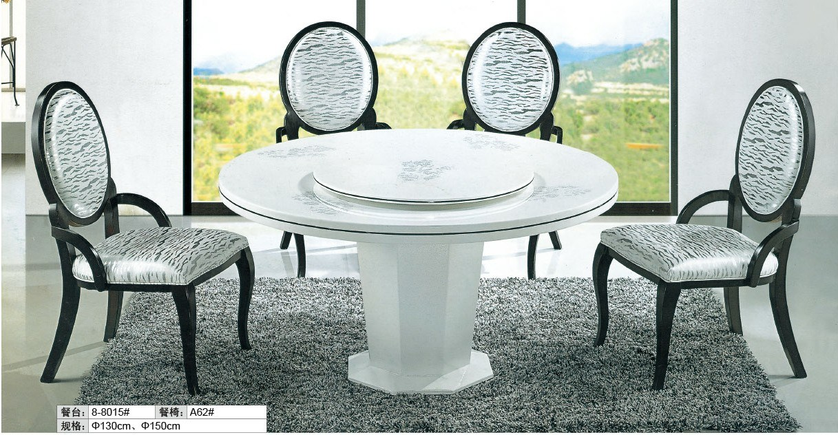 Het meubilair van de eetkamer marmeren eettafel en stoel 8 8015 het meubilair van de - Idee van de eetkamer ...