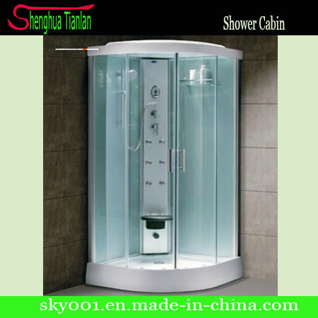 Cabina de cristal transparente simple de la ducha del for Cabina de ducha easy