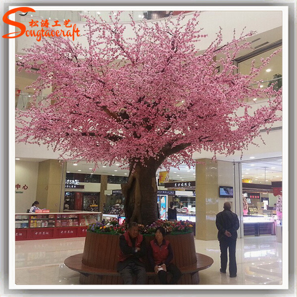 Shopping plaza d coratif int rieur artificielle cherry for Arbres artificiels interieur