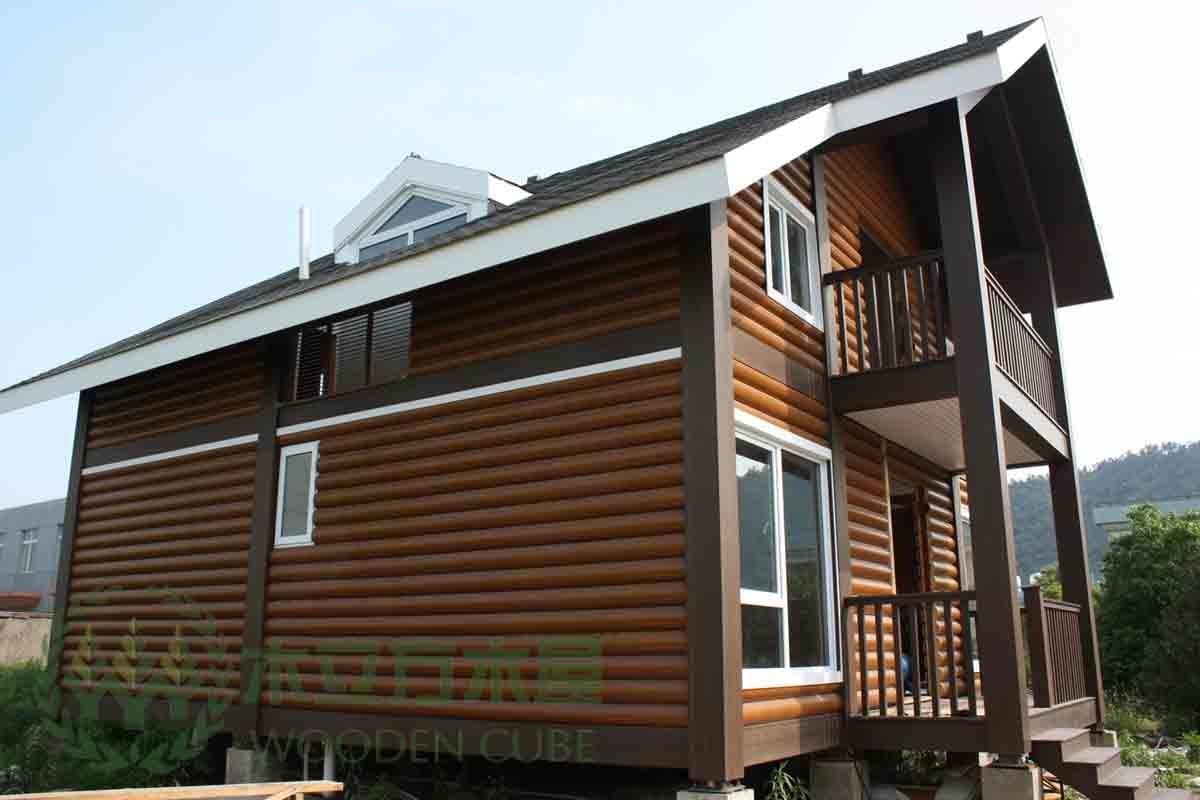 Casa pré fabricada composta plástica de madeira removível –Casa  #2F739C 1200x800