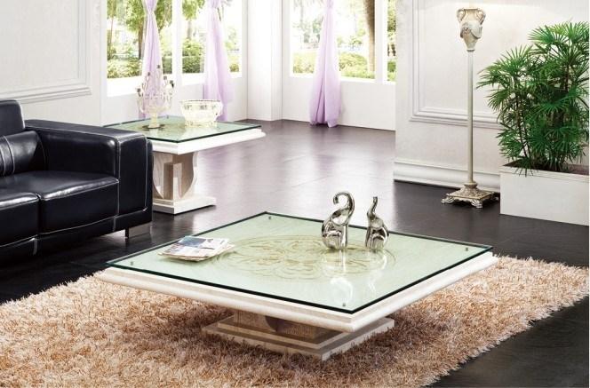 Foto de m rmol plaza mesa de piedra base de cristal de - Mesas de centro marmol ...