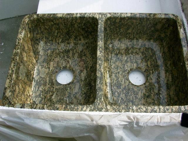 Los fregaderos de piedra naturales granito se hunden los - Baneras de piedra ...