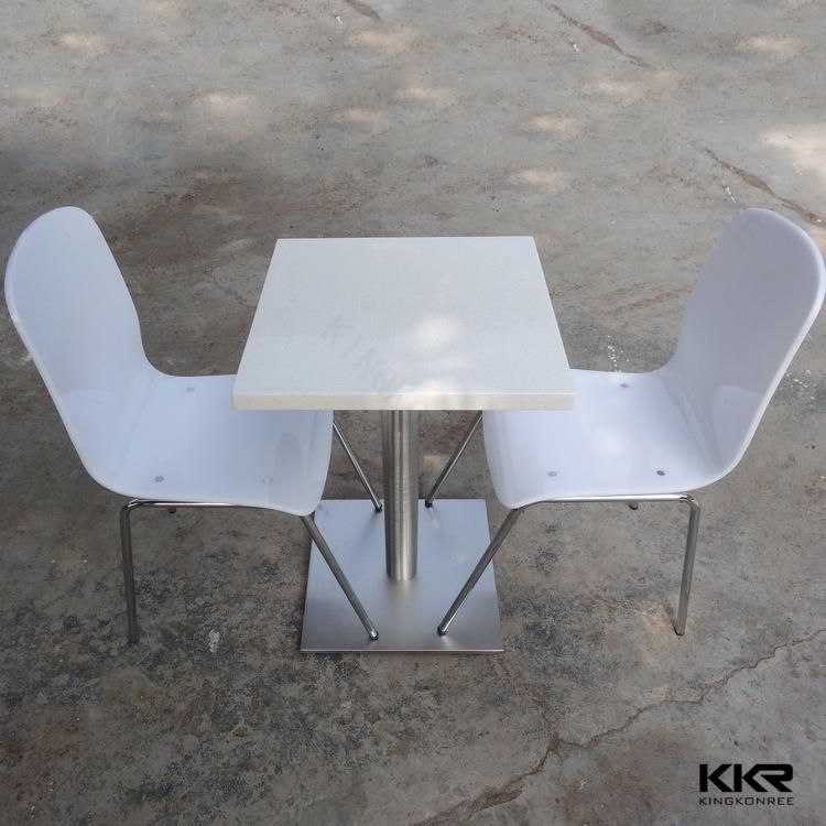 Tavolino da salotto quadrato di superficie solido acrilico di ...