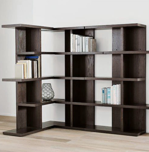 Estante para libros de la esquina de madera xm 802 - Madera para estantes ...