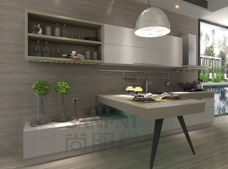 Cabinet de cuisine moderne de mod le k201 cabinet de for Modele cuisine moderne