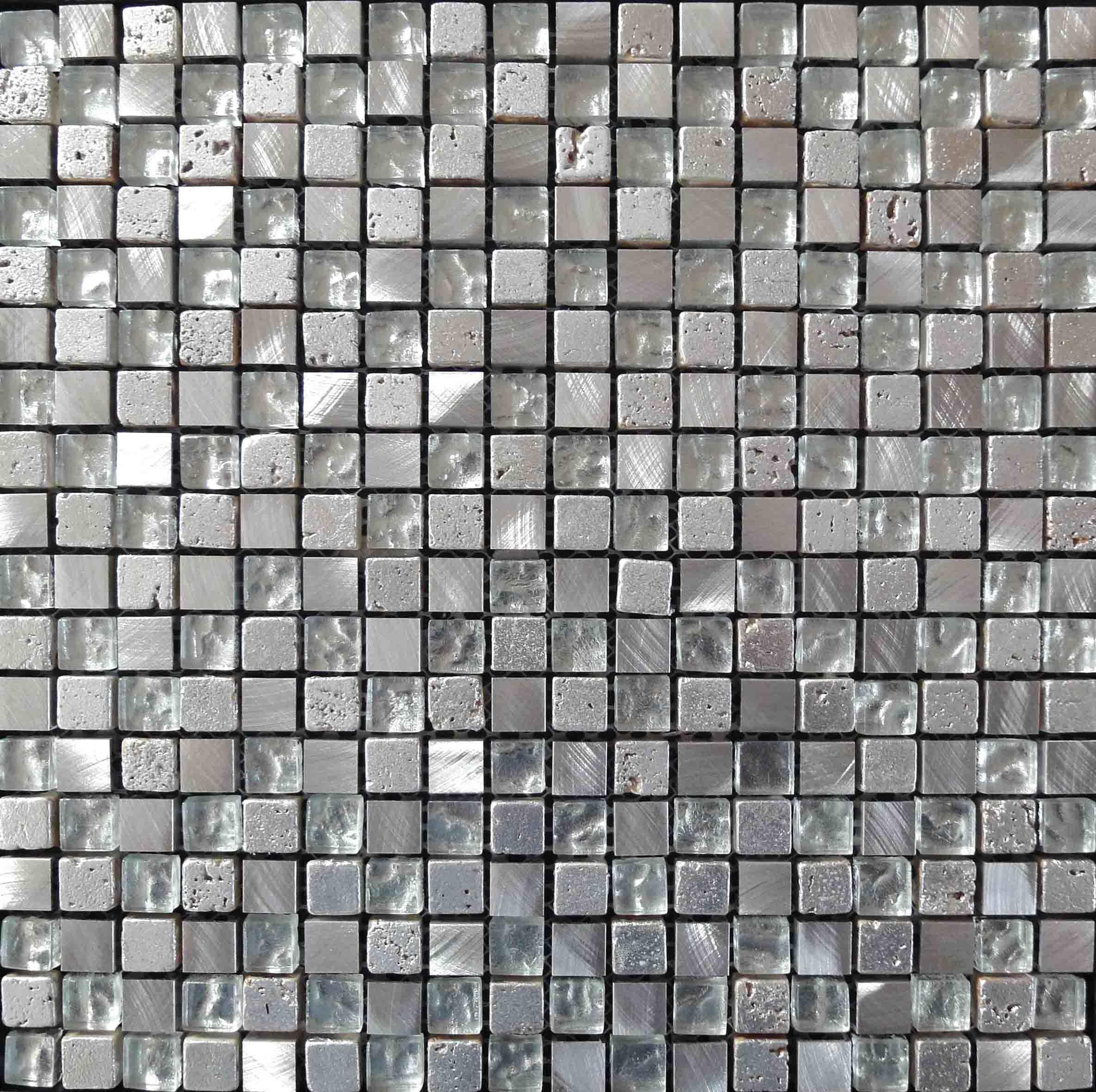 유리제 혼합 금속 모자이크 타일 Ksl-C11003 – 유리제 혼합 금속 ...