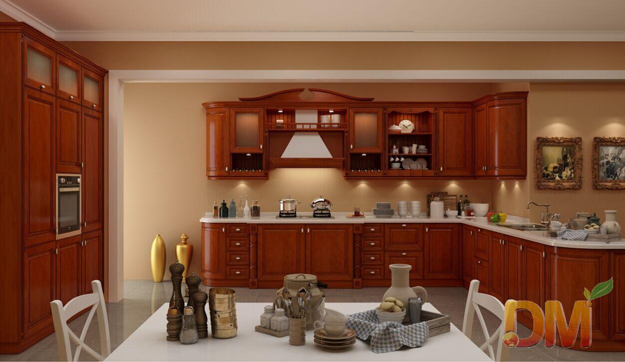 Meubles en bois rouges de cuisine de modèle russe photo sur fr ...