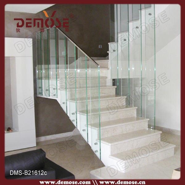 Sin marco de vidrio barandilla para escalera interior dms for Barandillas escaleras interiores precios
