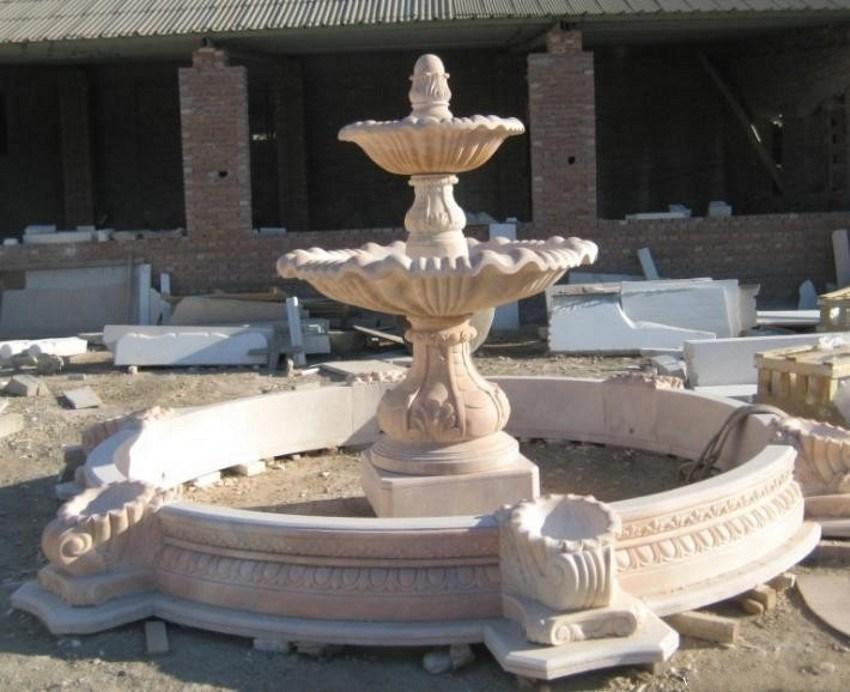 Fuente de piedra de m rmol tallada al aire libre para el - Fuentes de marmol para jardin ...