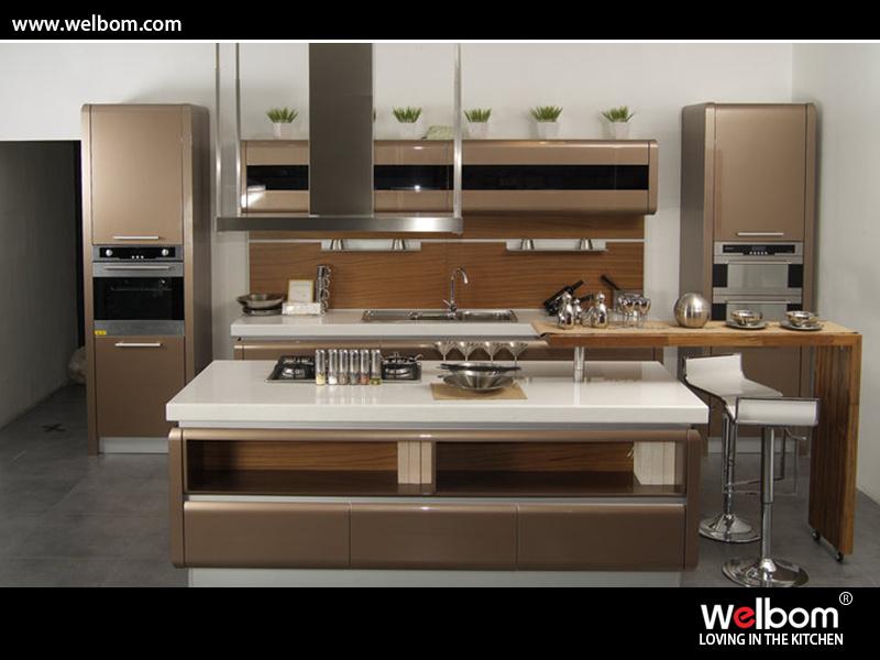 Foto de las cabinas de cocina modernas de la isla for Islas para cocinas integrales