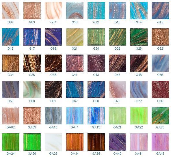 Azulejo de mosaico de cristal serie de oro de la - Azulejos de cristal ...