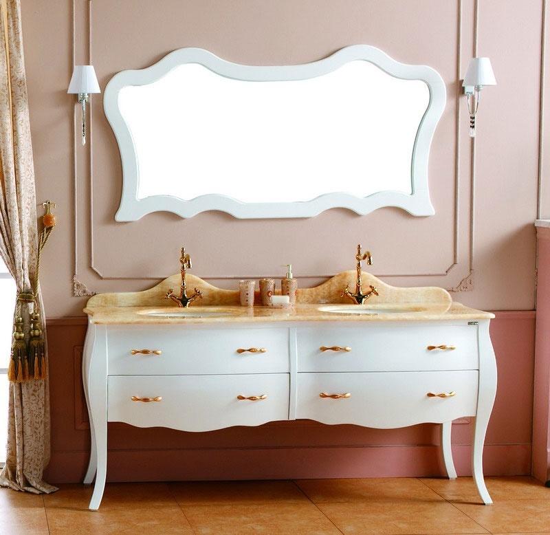 Cabinet de salle de bains de mod le moderne double vier for Cabinet pour salle de bain