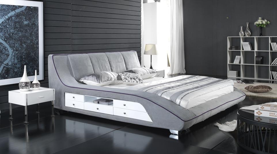 beau lit de tissu de mode photo sur fr made in. Black Bedroom Furniture Sets. Home Design Ideas