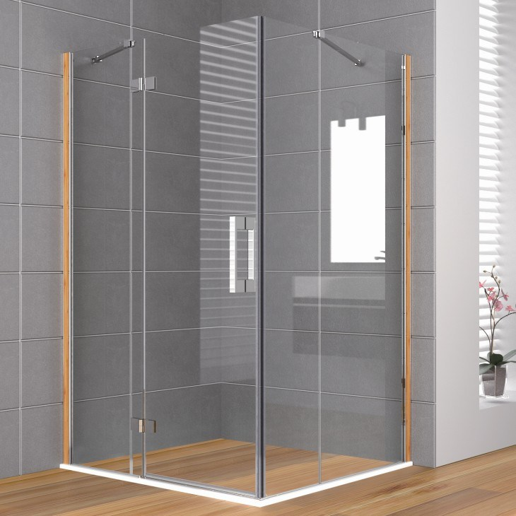 Douche en verre trempe maison design for Douche en verre trempe