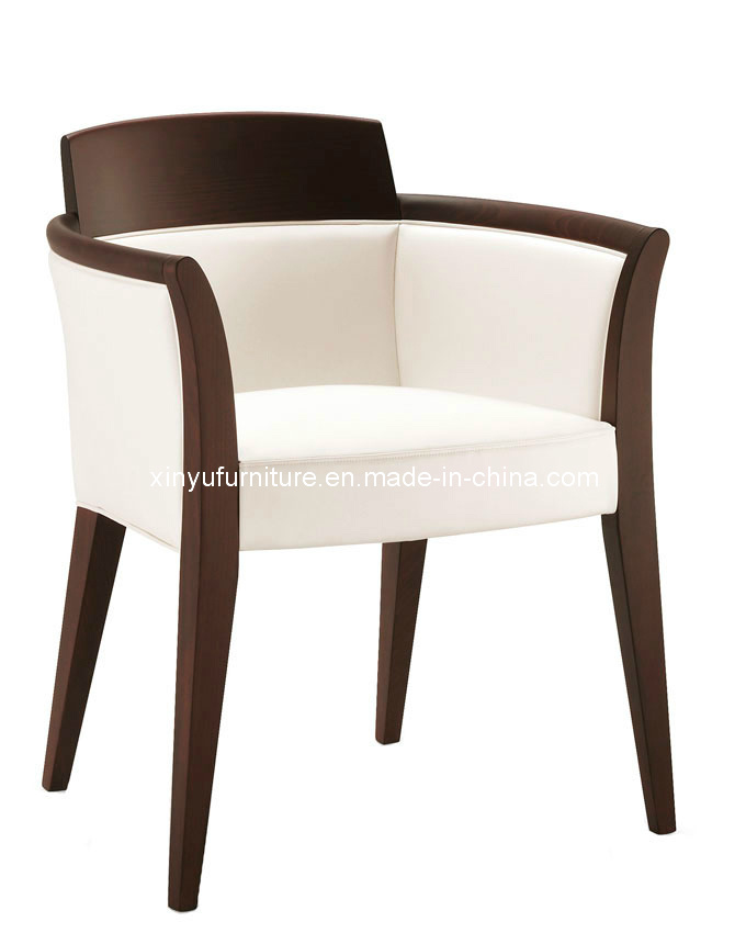 Chaise en bois de tissu blanc avec l 39 accoudoir xy2618 for Chaise tissu avec accoudoir