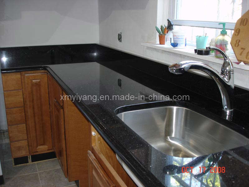 noir galaxy comptoir de granit pour la cuisine salle de bains noir galaxy comptoir de granit. Black Bedroom Furniture Sets. Home Design Ideas